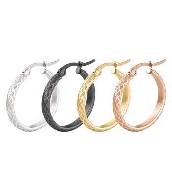 RELATE Stainless Steel Hoop Earrings Earrings Hoop Earrings 8d255f28538fbae46aeae7: 15mm|20mm|25mm|30mm