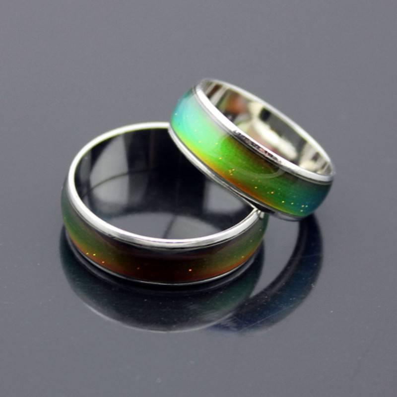 ARIEL – Cute Color Changing Metal Unisex Ring Men Men Rings Rings size: 10 6 7 8 9