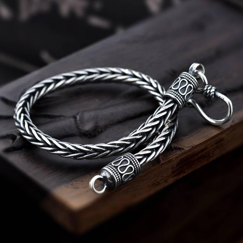 THIAGO – Men's Vintage 925 Sterling Silver Bracelet Men Men Bracelets 32954654ac8fe66a1d09be: 4 mm / 0.11 inch|5 mm / 0.17 inch