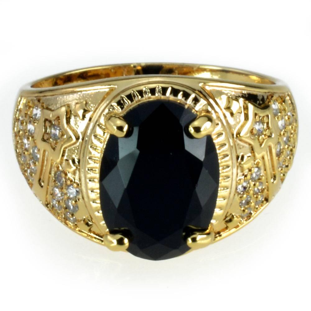 MADDOX – Men's Fashion Gold Ring with Black Stone Men Men Rings 2ced06a52b7c24e002d45d: 10 11 12 13 14 15 8 9