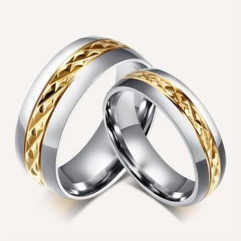 ADELE – Romantic Stainless Steel Couple Rings Men Men Rings Rings size: 10|11|12|6|7|8|9