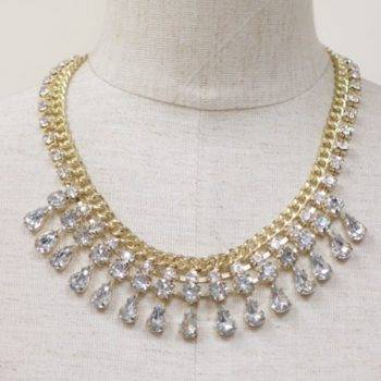 SAMIRA – Rhinestone Fashion Statement Necklace Clearance 8d255f28538fbae46aeae7: Gold-color