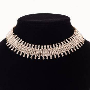 KIMORA – Rhinestone Statement Necklace Clearance 8d255f28538fbae46aeae7: Gold-color|Silver Plated
