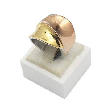 AVA – Exaggerated 3-Colours Stainless Steel Ring for Women Rings 2ced06a52b7c24e002d45d: 6 7 8 9