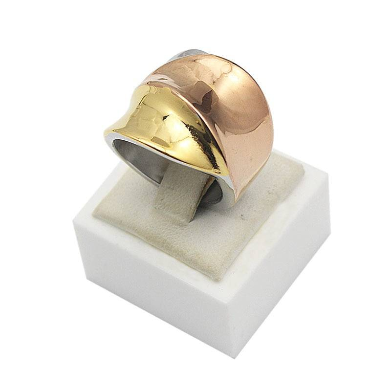 AVA – Exaggerated 3-Colours Stainless Steel Ring for Women Rings 2ced06a52b7c24e002d45d: 6|7|8|9
