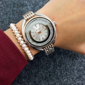 GAIL – Rhinestone Stainless Steel Bracelet Women Watch Watches color: as the picture|As the picture|As the picture|As the picture|As the picture