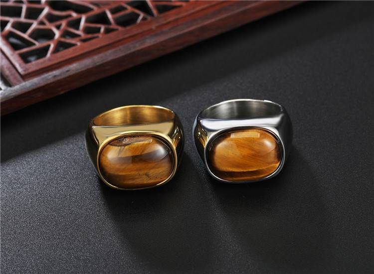 BASIL – Vintage Men and Boys Oval Tiger Eyes Ring Men Men Rings Rings 2ced06a52b7c24e002d45d: 10|11|12|7|8|9
