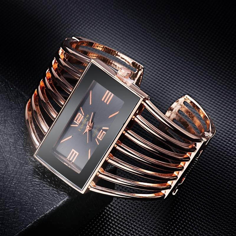 LAIDE – Women's Stainless Steel Bangle Cuff Fashion Wristwatch Watches color: As the picture1|As the picture2|As the picture3|As the picture4|As the picture5|As the picture6|As the picture7