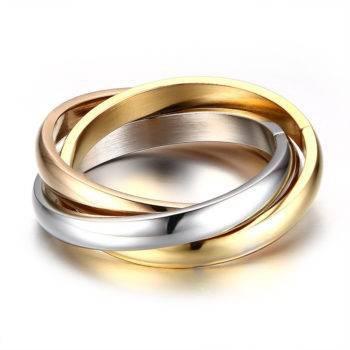 ELLENA – Women's Stainless Steel Interlocked Ring Rings 2ced06a52b7c24e002d45d: 10|5|6|7|8|9