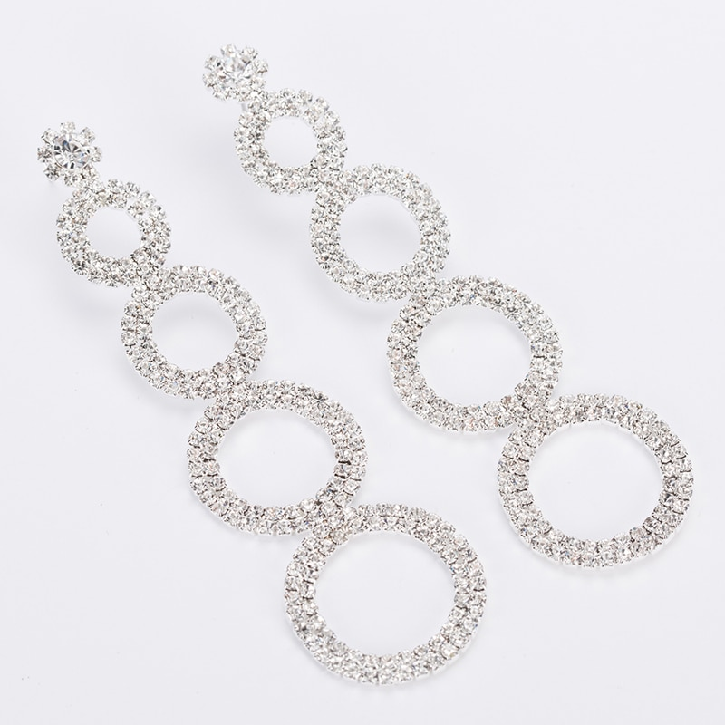 TO-FRO Crystal Long Drop Bridal Earrings Clearance 8d255f28538fbae46aeae7: Gold|Silver