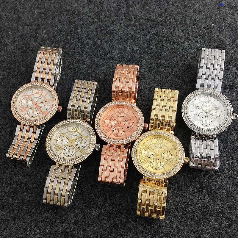 SHIRLEY – Luxury Rhinestone Women's Watches Watches color: 1|2|gold|rose gold|silver