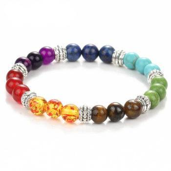 TRIPTI – Multicolor Natural Stone Chakra Bracelet Bracelets color: Multicolor
