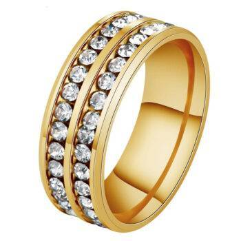 TIANA – Stainless Steel Double Row CZ Ring Rings 2ced06a52b7c24e002d45d: 10|11|12|5|6|7|8|9