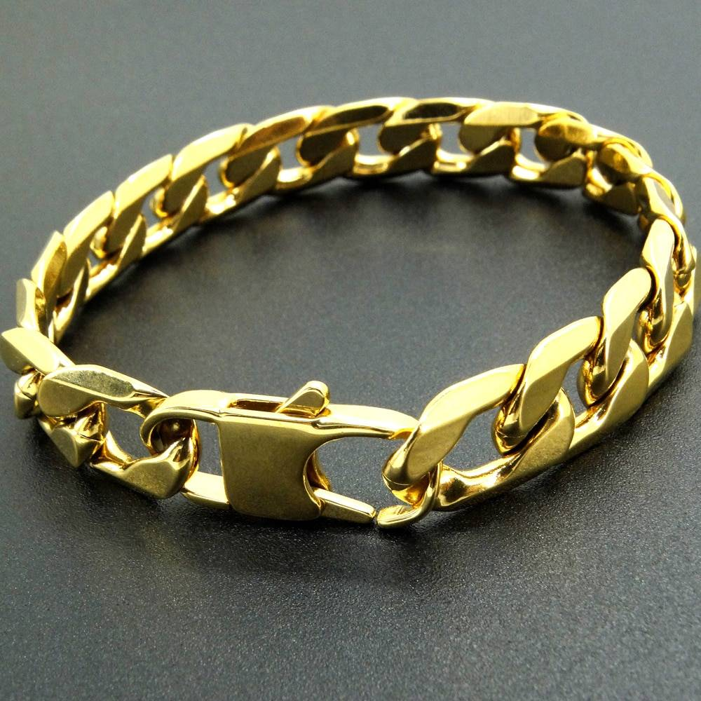 Gold Stainless Steel Women's Bracelet