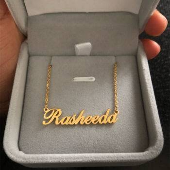ELSIE – Personalised Stainless Steel Choker Necklaces Personalised Necklace a4a426b9b388f11a2667f5: Gold Color|Platinum Plated|rose gold