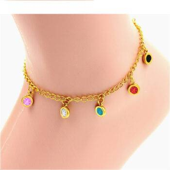 GRACIE – Stainless Steel Colorful Crystal Anklet Anklets 8d255f28538fbae46aeae7: BR203701G|BR203801G|BR203901G|BR204001G|BR204101G|BR204201G|BR204301G|BR204401G|BR204501G|BR204601G