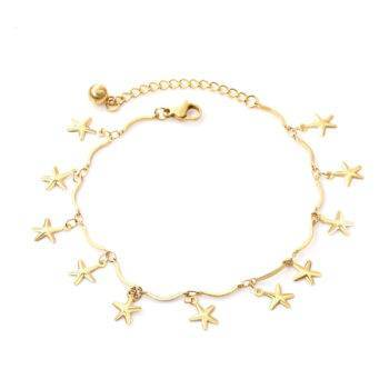 TESSA – Stainless Steel Starfish Chain Anklet Anklets Brand Name: LUXUSTEEL