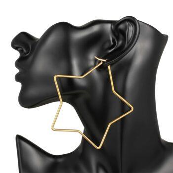 LISA – Star-Shaped Hoop Earrings Earrings Hoop Earrings 8d255f28538fbae46aeae7: 1795 Gold 42mm|1795 Gold 60mm|1795 Gold 80mm