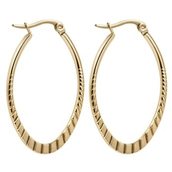 HAZEL – Embossing Geometric Hoop Earrings Earrings Hoop Earrings 8d255f28538fbae46aeae7: 1366 Gold|1366 Silver|1367 Gold|1367 Silver|1370 Gold|1370 Silver