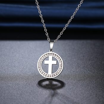 MARTHA – Stainless Steel Cross Crystal Necklace Necklaces Pendant Necklace 8d255f28538fbae46aeae7: Gold-color|silver color