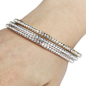 COSSA – Rhinestone Stainless Steel Bangle Bangles 8d255f28538fbae46aeae7: 18K Gold|Rose Gold|Silver
