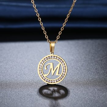 AMY – Stainless Steel Initial Crystal Necklace Necklaces Pendant Necklace 8d255f28538fbae46aeae7: a|b|c|d|e|f|g|h|i|j|k|l|m|n|o|p|q|r|s|T|U|V|W|X|Y|Z