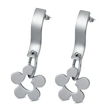 FLAVIA – Stainless Steel Flower Drop Earrings Drop Earrings Earrings 8d255f28538fbae46aeae7: Gold|Silver
