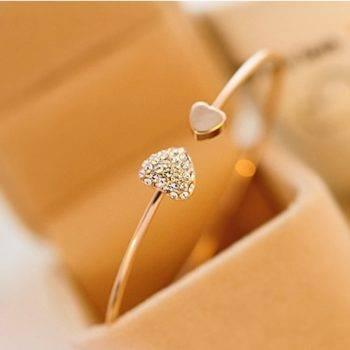 ELIAN – Women's Heart Shaped Bracelet Bangles Bracelets 8d255f28538fbae46aeae7: Gold|Silver