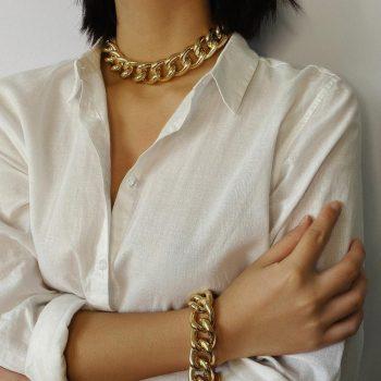 Chunky Gold Tone Statemet Chain Necklace And Bracelet Set – ZOE Bracelets Choker Jewellery Sets 8d255f28538fbae46aeae7: Set 1|Set 2|Set 3|Set 4|Set 5|Set 6|Set 7|Set 8|Set 9