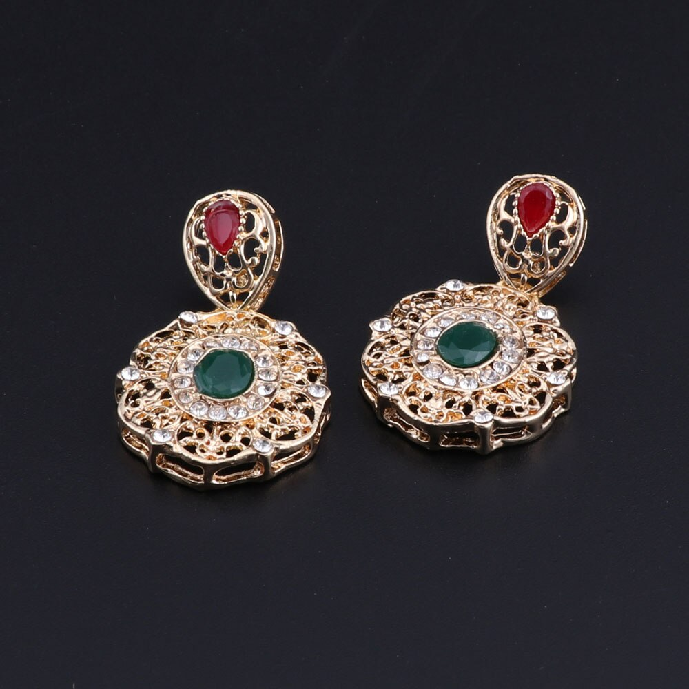 HANIYA – Elegant Wedding Bridal Jewellery Set Wedding Jewellery Set 8d255f28538fbae46aeae7: gold without box