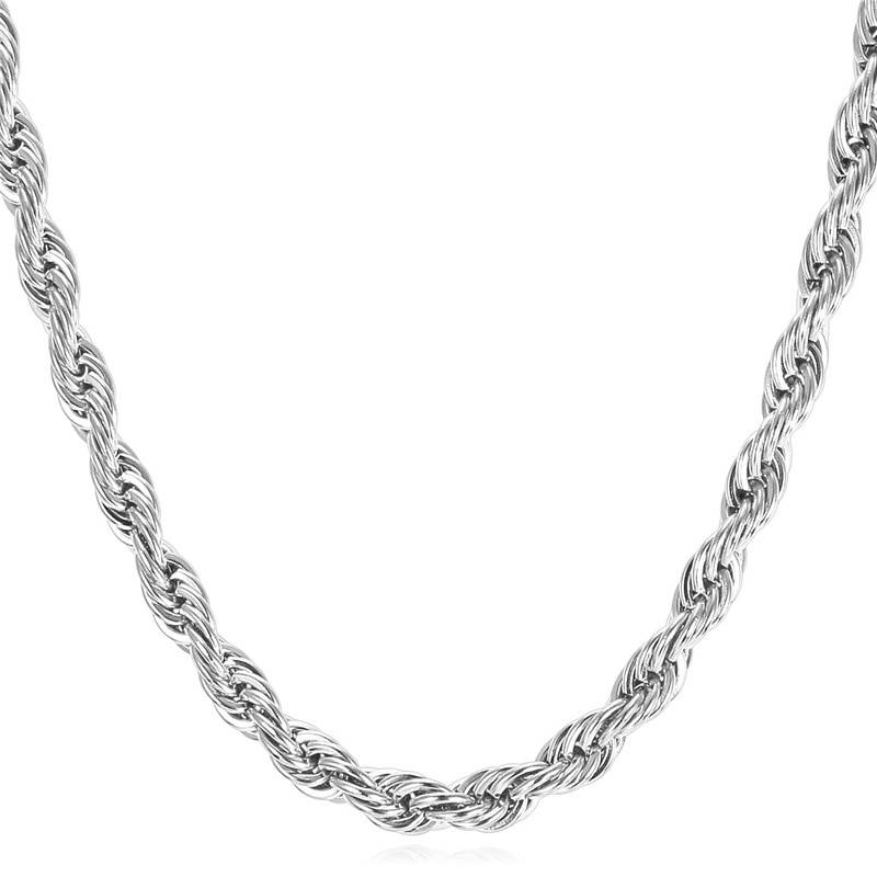 Thick Twisted Rope Braided Men's Chain 8d255f28538fbae46aeae7: Black|Gold|Silver
