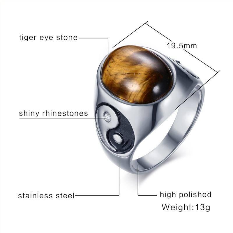 Vintage Men's Tiger Eye Stone Yin Yang Symbol Ring 2ced06a52b7c24e002d45d: 10 11 12 8 9