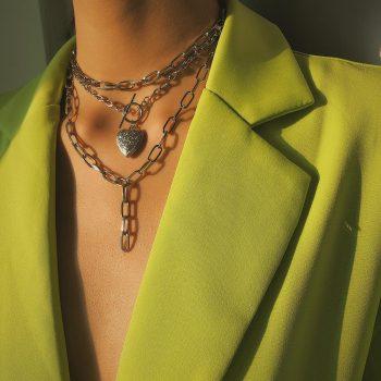 Cuban Heart Lasso Layered Necklace – BELLA Layered Necklace Necklaces 8d255f28538fbae46aeae7: color 1 color 2