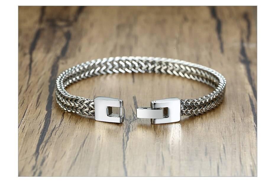 Bali Foxtail Stainless Steel Bracelet for Men – TRAIN Men Men Bracelets 8d255f28538fbae46aeae7: 6.5 Lobster Black|6.5 Lobster Gold|6.5 Lobster Silver|6.5mm Black|6.5mm Gold|6.5mm Silver|6.5mm Toggle|6.5mm Vintage|6mm Square Black|6mm Square Gold|6mm Square Retro|6mm Square Silver|8.5mm Silver|8.5mm Vintage|8mm Square Silver