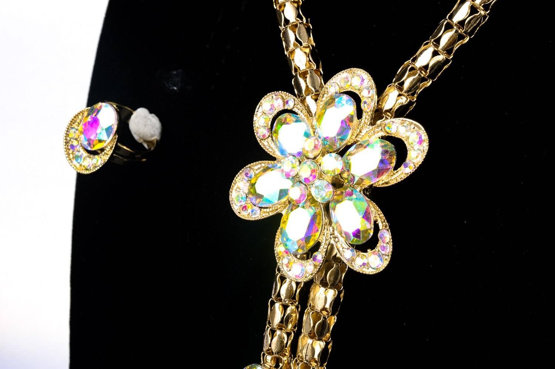 Classy Zirconia Flower Jewellery Set for Women Jewellery Sets Wedding Jewellery Set 8d255f28538fbae46aeae7: Jewelry Sets