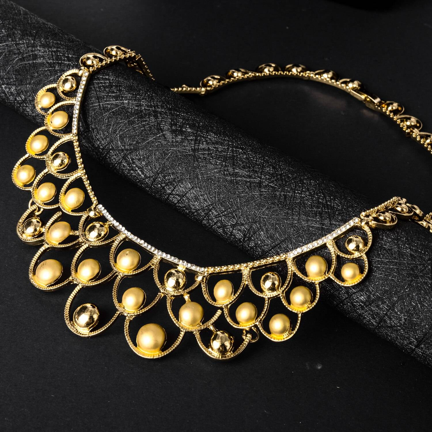 Diana baby Jewelry Sets Gold Planted Bridal Wedding Sets Earrings Necklace Bracelet Ring For Women Engagement Daily Wear Party Wedding Jewellery Set 8d255f28538fbae46aeae7: Jewelry Sets