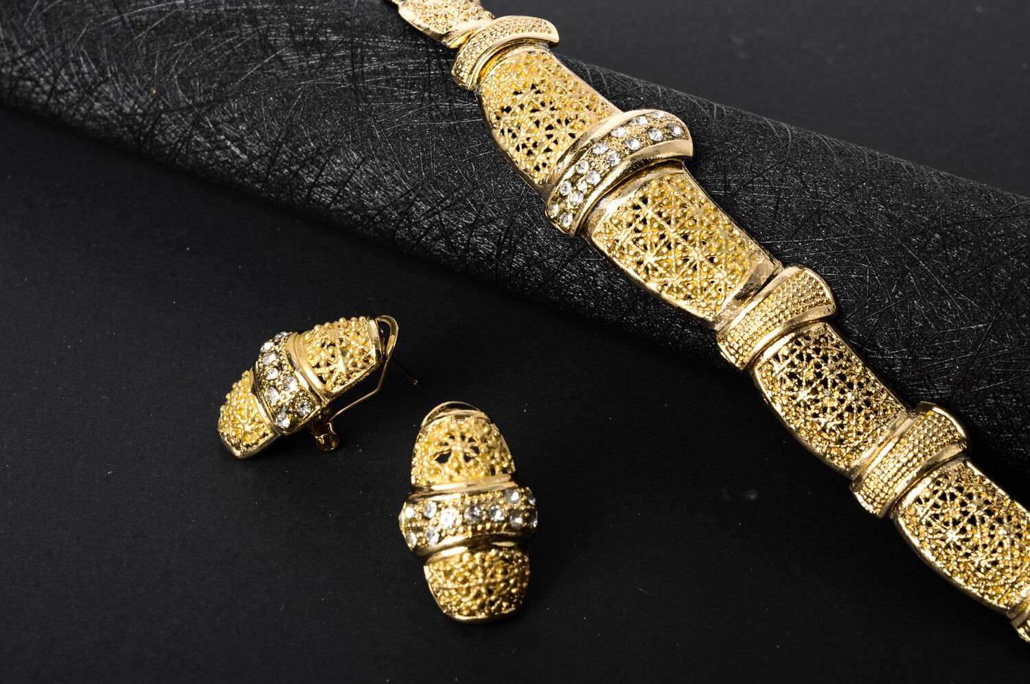 Fashion Gold Plated Bridal Jewellery Set for Women Wedding Jewellery Set 8d255f28538fbae46aeae7: Jewelry Sets