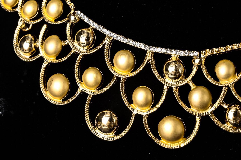 Gold Plated Zirconia Tribal Wedding Jewellery Set Jewellery Sets Wedding Jewellery Set 8d255f28538fbae46aeae7: Jewelry Sets