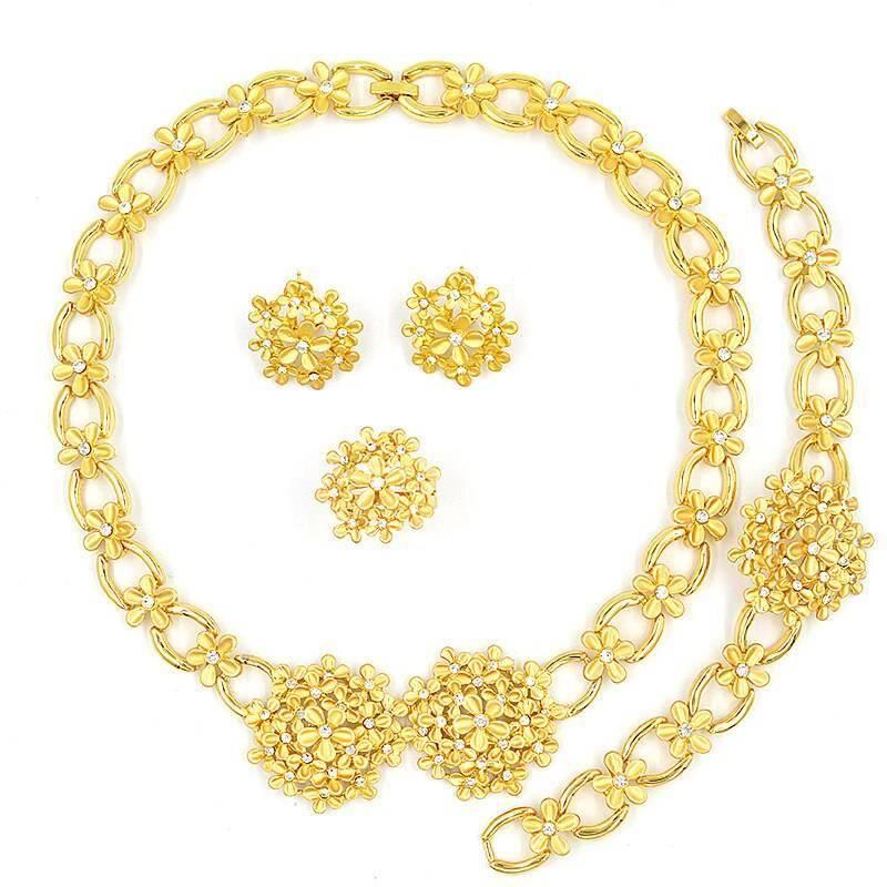 Romantic Cubic Zirconia Round Flower Bridal Jewelry Set Wedding Jewellery Set 8d255f28538fbae46aeae7: Jewelry Set G Jewelry Set S