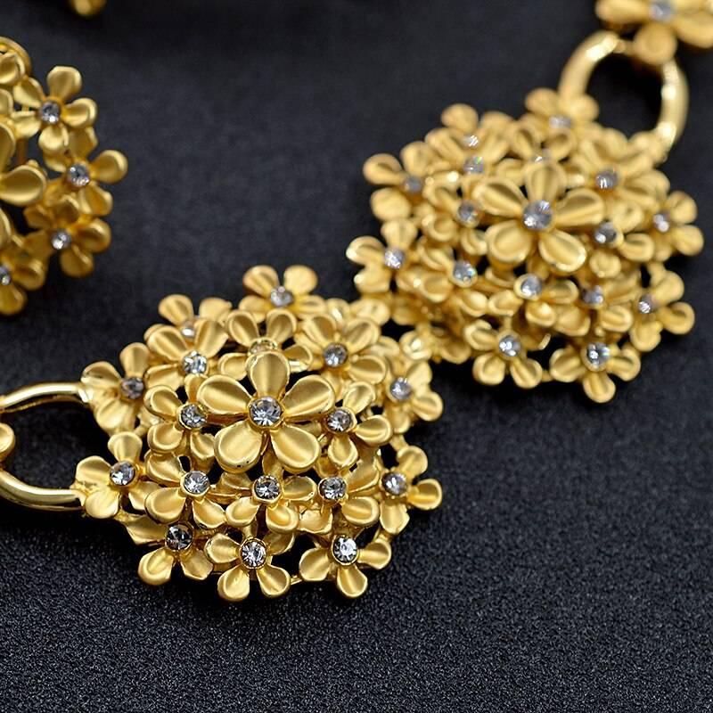 Sunny Jewelry Romantic Jewelry Cubic Zirconia Round Flower Bridal Jewelry Set Wedding For Women Necklace Earrings Ring Bracelet Wedding Jewellery Set 8d255f28538fbae46aeae7: Jewelry Set G Jewelry Set S