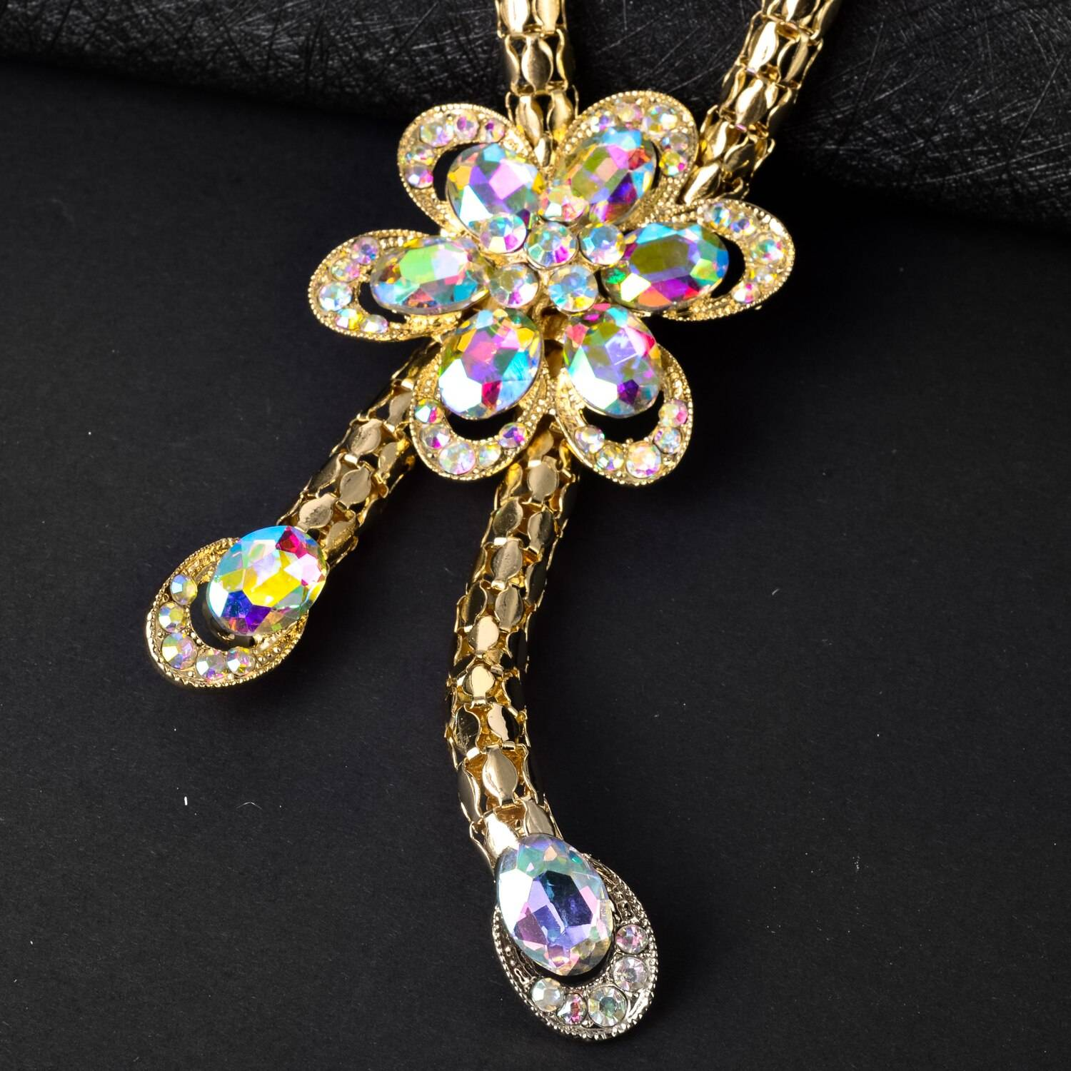 Sunny Jewelry Sets Hot Sale Bridal Wedding Flower Zircon Earrings Necklace Bracelet Ring For Women Romantic Trendy Gift Party Wedding Jewellery Set 8d255f28538fbae46aeae7: Jewelry Sets