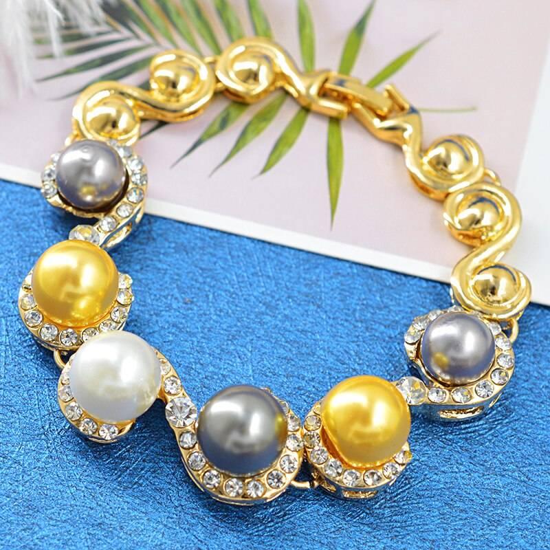 ZEA Dear Jewelry Romantic Wedding Jewelry Women Bridal Jewelry Set Necklace Earrings Ring Bracelet For Party Jewelry Findings Wedding Jewellery Set 8d255f28538fbae46aeae7: Jewelry Set
